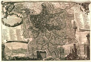 Giambattista Nolli - The Nolli map, 1748