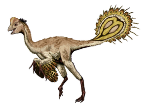 Nomingia - Restoration with hypothetical head, arms, and feet