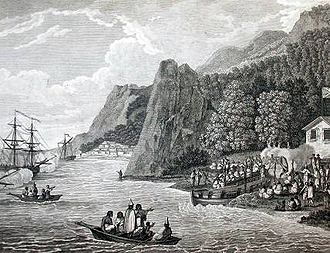 Nootka Sound - John Webber's 'The launching of the North West America Ships of Meares at Nootka Sound in 1788