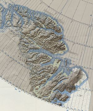 Princess Dagmar Island - Map of Northeastern Greenland.