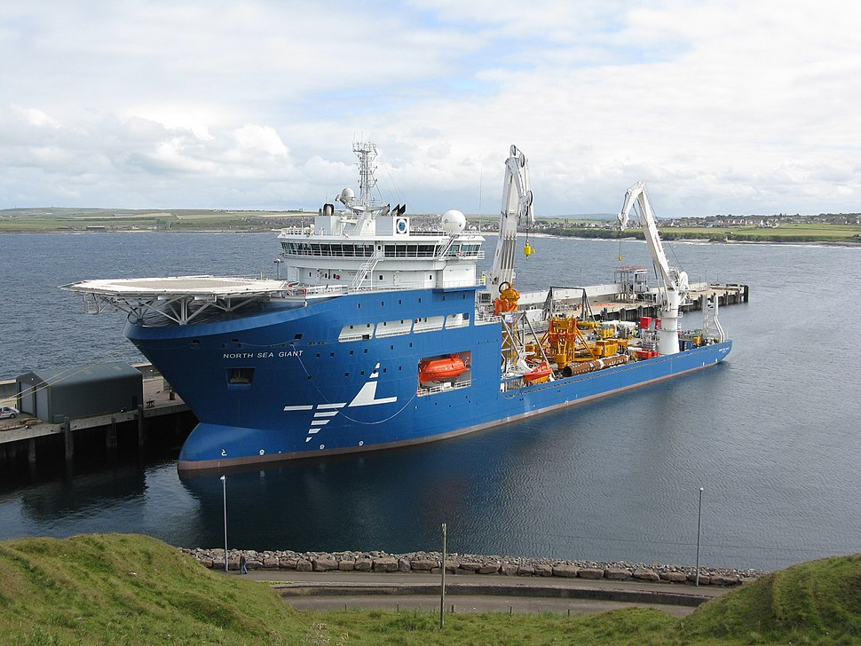 North Sea Giant offshore installation vessel