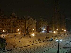Neighborhoods and suburbs of Novi Sad - View of Stari Grad in winter