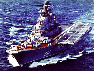 Kiev-class aircraft carrier - Aircraft carrier Novorossiysk, USSR, 1986