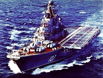 Kiev-class aircraft carrier - Aircraft carrier Novorossiysk, USSR, 1986