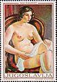 Nude in Red Chair by Sava Šumanović 1969 Yugoslavian stamp.jpg