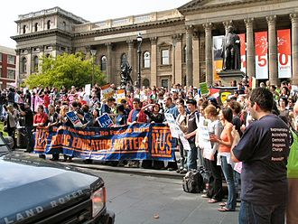 National Union of Students (Australia) - A NUS rally to protest funding cuts to higher education