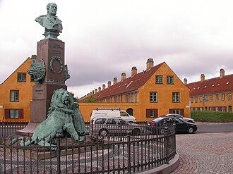 Battle of Heligoland (1864) - The memorial to Edouard Suenson at Nyboder in Copenhagen