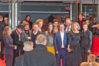 """Nymphomaniac (film) - Cast and crew at the premiere of the film """"Nymphomaniac"""" at the 2014 Berlin Film Festival."""