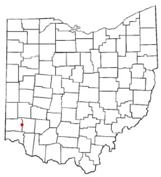 Monroe, Ohio - Image: OH Map doton Monroe