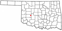 Location of Colony, Oklahoma