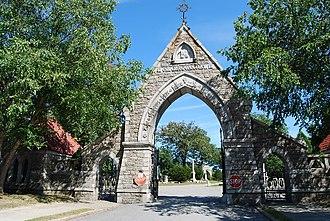 Oak Grove Cemetery (Fall River, Massachusetts) - Main entrance arch (1873)