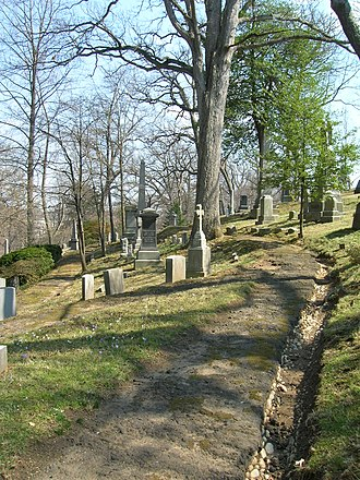 Rural cemetery - Oak Hill Cemetery, a garden cemetery in Washington, D.C., in the United States.