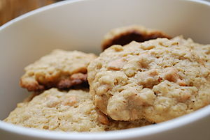Oatmeal cookies with peanut butter and butters...