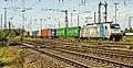 Oberhausen West 186 107 met Containershuttle (14388512176).jpg