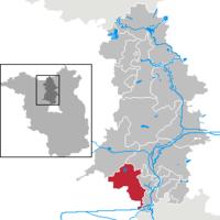 Położenie na mapie powiatu