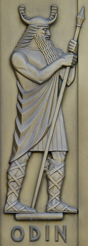Gungnir - Lee Lawrie, Odin (1939). Library of Congress John Adams Building, Washington, D.C.