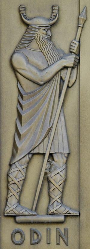 Gungnir - Lee Lawrie, Odin (1939). Library of Congress John Adams Building, Washington, D.C.