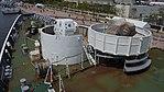 Oerlikon 35mm cannon & JM61-M 20mm gun mounted on JCG Settsu(PLH-07) left top view at Port of Kobe July 22, 2017.jpg