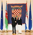 Official welcome ceremony was held for President Ilham Aliyev in Zagreb 16.jpg