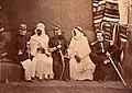 Officiers des affaires arabes et notables musulmans, Oran, 1856.jpg