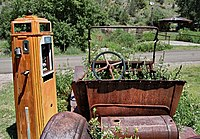 Old car, pump, Mogollon NM.jpg