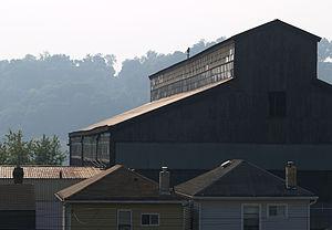 Blawnox, Pennsylvania - An old factory in Blawnox