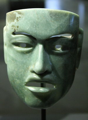 Jade use in Mesoamerica - Jade olmec warriors mask.