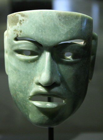 "Olmec colossal heads - ""Olmec-style"" face mask in jade"