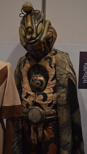 Arc of Infinity - Omega's costume for this episode, on display at the Doctor Who Experience.