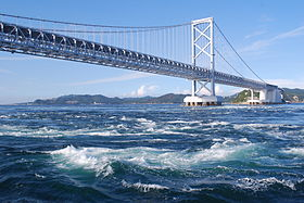 Onaruto-bridge and Naruto Channel,Naruto-city,Japan.JPG