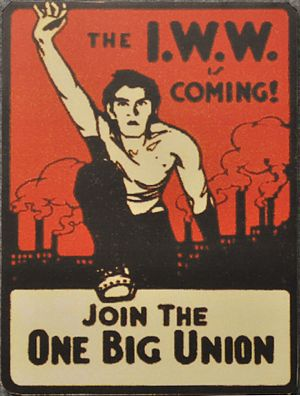 One Big Union (concept) - IWW sticker, 1910s