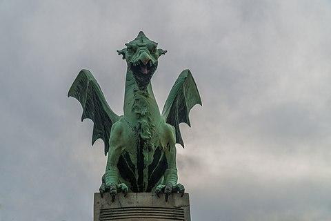 One Of The Dragons - Dragon Bridge (Ljubljana)