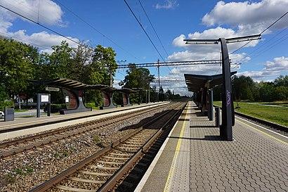Kuidas ühistranspordiga sihtpunkti Raasiku raudteejaam jõuda - kohast