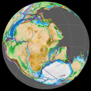 The first ocean floor formed between Madagascar and Africa c. 150 Ma (left) and between India and Madagscar c. 70 Ma (right).