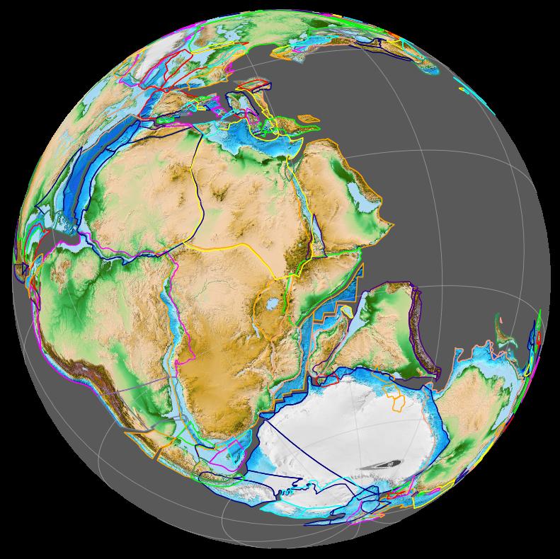 Opening of western Indian Ocean 150 Ma