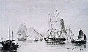 English opium ships
