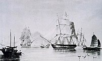 English opium ships