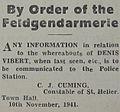 Order Feldgendarmerie Denis Vibert 1941 Jersey.jpg
