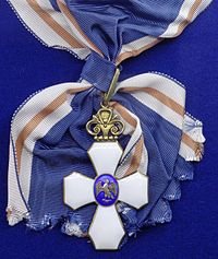 Order of the Falcon grand cross badge sash (Iceland 1950-1970) - Tallinn Museum of Orders.jpg