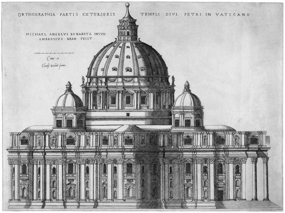 Ortographia Partis Exterioris Templi Divi Petri in Vaticano