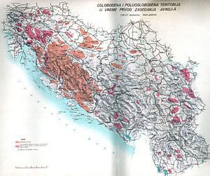 Proto-state - Territory controlled by the Anti-Fascist Council of Yugoslavia, which established its own proto-state in 1942
