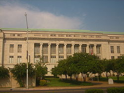 Ouachita Parish Courthouse in Monroe was built in the 1930s by the contractor George A. Caldwell