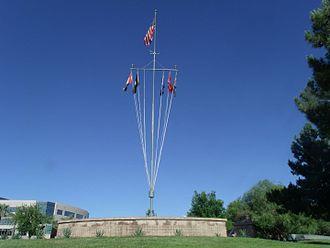 Wesley Bolin Memorial Plaza - Image: P Signal Mast of the USS Arizona 1