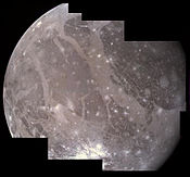 A color mosaic of Ganymede