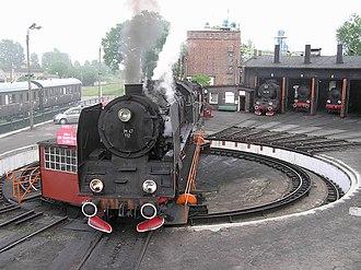 Railway roundhouse - Operational roundhouse in Wolsztyn, Poland.
