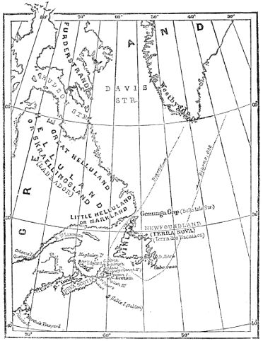 PSM V27 D055 Map of ancient viking and portuguese colonies in canada.jpg