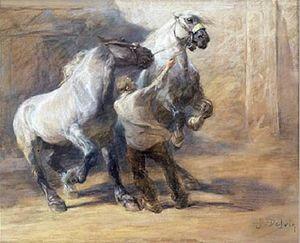 Jean Delvin - Horses (1894)