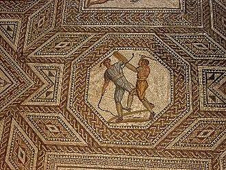 Nennig - Image: Paegniarii gladiators (from Nennig mosaic)