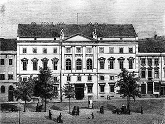 Prussian House of Representatives - Palais Hardenberg, Berlin: seat of the House of Representatives until 1899