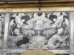 Palazzo di Bianca Cappello - Image: Palazzo di bianca cappello, graffiti 08